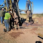 2016 reverse circulation drill program south-east of Mexican Hat hill